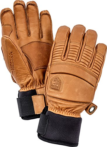 - Hestra Mens Ski Gloves: Fall Line Winter Cold Weather Leather Gloves, Cork, 10