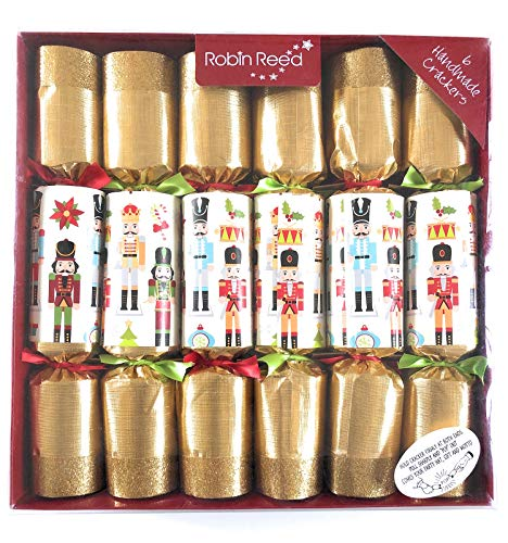 Classic English Festive Party Favours, Gift Box Set of 6, Nutcracker (Best Christmas Crackers)