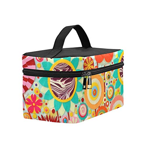 Abstract Colourful Art Acrylic Art Painting Lunch Box Tote Bag Lunch Holder Insulated Lunch Cooler Bag For Women/men/picnic/boating/beach/fishing/school/work