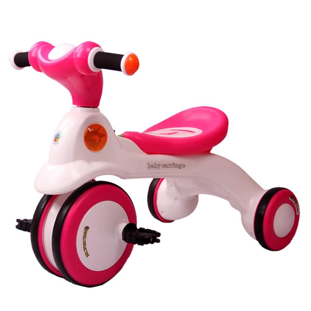 子供用三輪車 子供用自転車 子供用トロリー スタイリッシュな屋外用三輪自転車 16歳の男の子と女の子用自転車 (Color : Pink)  Pink B07QRGW2T9