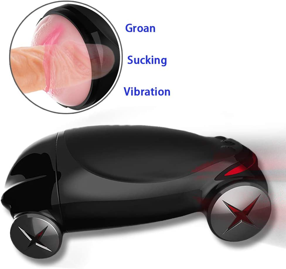 Auto Heating Telescopic Male Mästerbrators Toy Realistic Oral,Pocket Pussey Hands Free Powerful Thrusting Rotating Modes Mâstubràtion Deviceultra-Soft Men's Toys for Self Pleasure