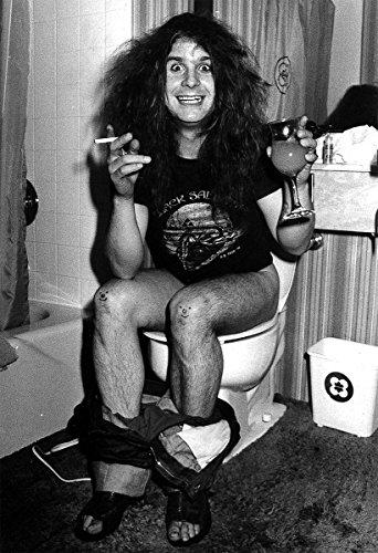 Ozzy Osbourne Poster Black Sabbath Toilet