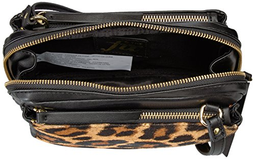 Triple Black Small Leah Zipper Fix Crossbody Leopard The Bag 0Bvqfx7n