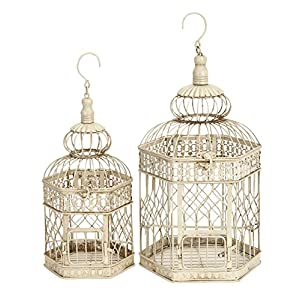 Deco 79 Metal Bird Cage, 21-Inch and 18-Inch, Set of 2 76