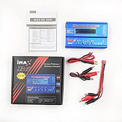 Tabuy iMAX B6 Digital LCD Screen RC Li-po NiMh Li-on Battery Charger Discharge Balance Charger Tester With T and XT60 Cable