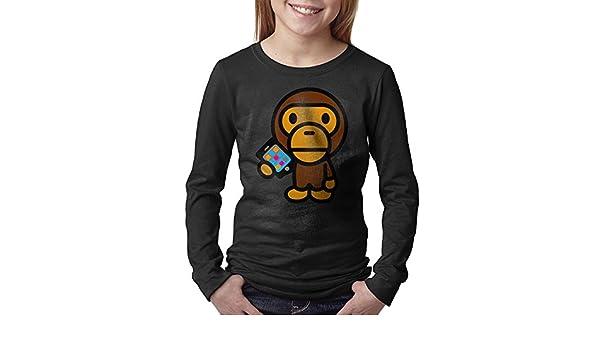 83fde0aa Amazon.com: Youth Printed Famouse Rapper Singer Kid Cudi Bape T Shirt:  Clothing