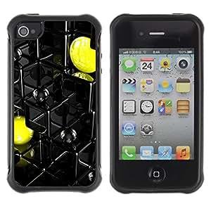 "Hypernova Defender Series TPU protection Cas Case Coque pour Apple iPhone 4 / iPhone 4S [Resumen Pac Amarillo""]"