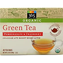 365 Everyday Value, Organic Green Tea with Pomegranate & Cranberry (40 Tea Bags), 2.82 Ounce