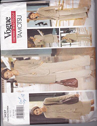 Vogue 1437 Sewing Pattern Misses Tamotsu Career Wardrobe Size (Vogue Wardrobe)