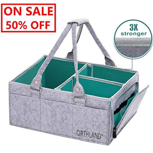 Outlet Deals! On Sale! Baby Diaper Caddy 2019 Upgraded Version Nursery Storage Bin and Car Organizer | Diaper Tote Bag | Baby Shower Gift Basket for Boys & Girls | Large & Portable