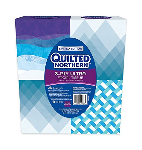 Quilted Northern Ultra Facial Tissue Cube (4 Boxes) - Cube Tissue Box