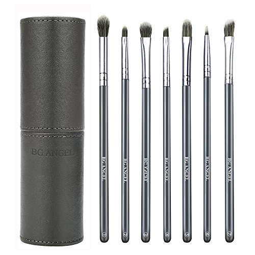 Eyeshadow Brushes BG ANGEL Eye Brushes Set Essential Makeup Brushes 7 Pcs Eyeshadow Blending Brushes with Case for Shading Blending Eyebrow -