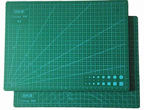 COMLIFE 2 Esteras de Corte de Doble Cara en Tamaño A4(30x 22cm), Verde