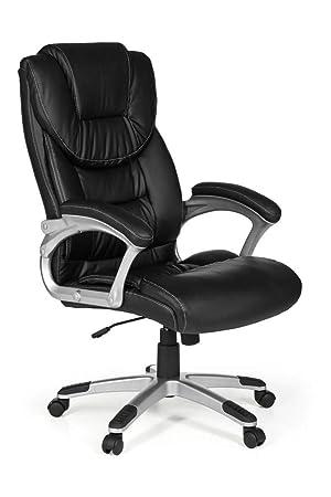 KS-Furniture Madrid - Silla de Oficina (Piel sintética, ergonómica, con reposacabezas, Respaldo Alto, 120 kg), Color Negro: Amazon.es: Juguetes y juegos
