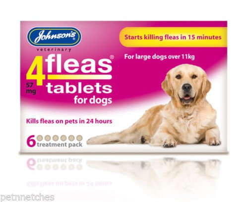 Johnson's 4 Fleas Tablets for Large & Small Dogs - Dog Flea Tablets (Small Dog 1-11kg 6 Tabs) John-sons