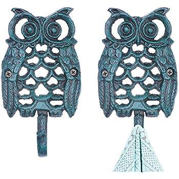 Amazon.com: Owlgift - Perchero de metal con 5 ganchos para ...