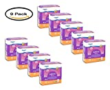 PACK OF 9 - Equate Options Incontinence Liners for Women, Very Light, Long Length, 44 Ct