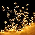 SPIRITUP Solar LED String Lights Outdoor, Warm White Christmas Lights, 200 LEDs 8 Modes 72ft with Dusk to Down Sensor for Xmas Tree Wedding Party Holiday Decorations