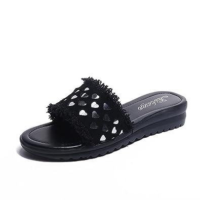 755f3906e16d15 Btrada Women s Summer Non-Slip Flats Slides Sandals Slippers Casual  Flexible Open Toe Slip On