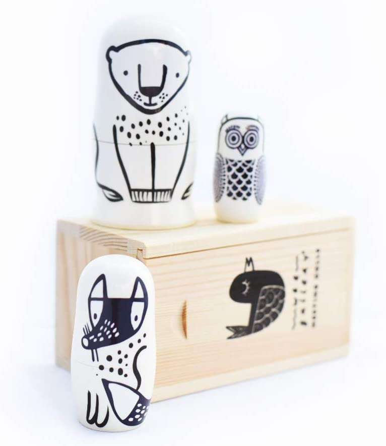 Toys & Games Novelty & Gag Toys Wee Gallery Set of 3 Nesting Dolls ...
