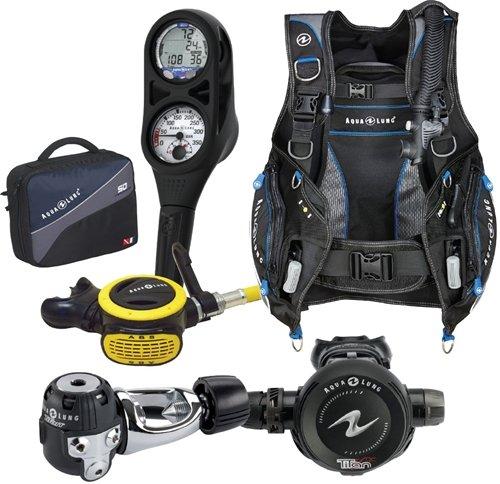 Aqua Lung Pro HD BCD i300 Dive Computer Titan / ABS Regulator Set Reg Bag Scuba Diving Gear (Reg Set)