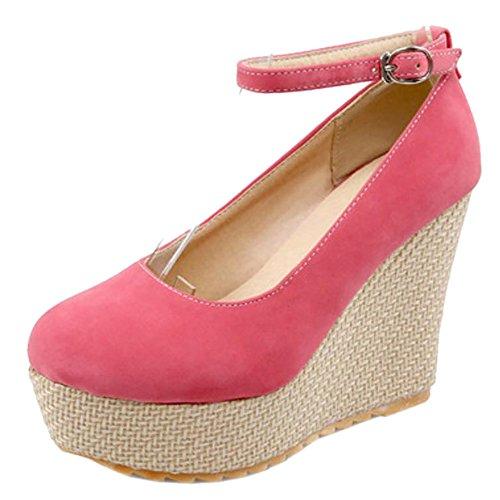 6294 Zeppa Tacco con TAOFFEN Moda Pink Scarpe Donna BHcpRqU