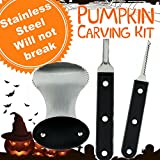 Pumpkin Carving Kit - Pro Level Stainless Steel Pumpkin Carving Kit Tools Set