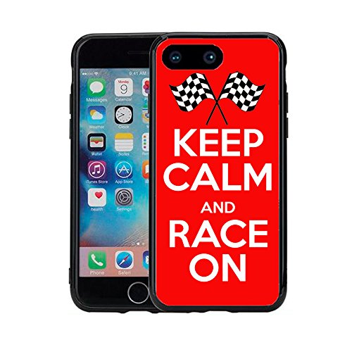 (Keep Calm and Race On for iPhone 7 Plus (2016) & iPhone 8 Plus (2017) (5.5) Case Cover by Atomic Market)