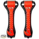 Car Safety Hammer Set of 2 Pack Window Breaker Seatbelt Cutter Auto Bus Emergency Escape Tool,Seat Belt Cutter Escape 2-in-1 for Family Rescue & Auto Emergency Escape Tools