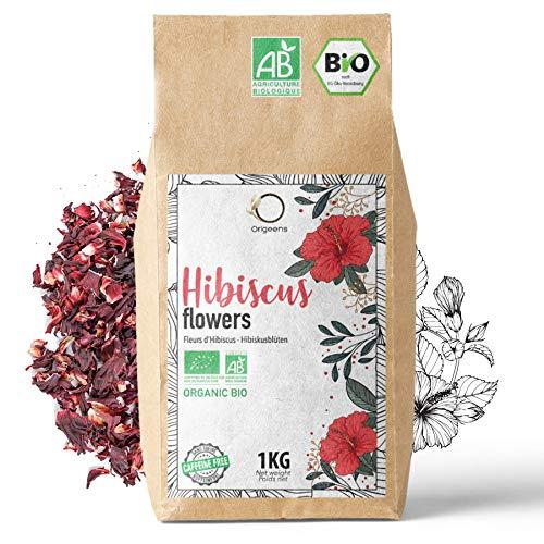 🌺 Flor de Jamaica BIO 1kg | Flor de Hibisco por Te Frio, Agua de Jamaica, Infusion | Te de Hibisco organico por Dieta Detox Drenante