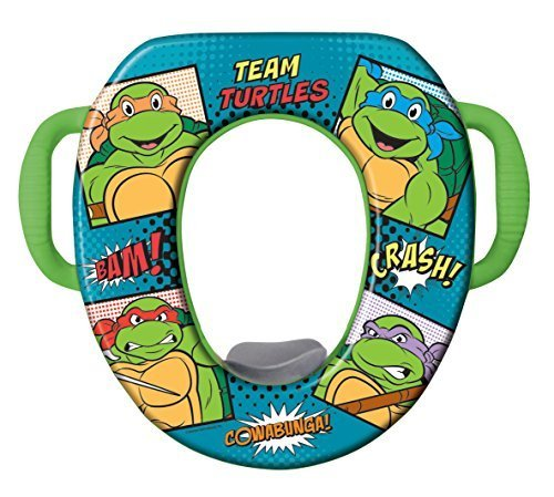 - Nickelodeon Teenage Mutant Ninja Turtle Buddies Seat - Padded, Soft and Durable - For Regular and Elongated Toilets - Removable Cushion for Easy Cleaning - Firm Grip Handles by Nickelodeon