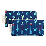 """Itzy Ritzy Reusable Mini Snack Bags – 2-Pack of 3.5"""" x 7"""" BPA-Free Snack Bags are Food Safe & Washable for Storing Snacks, Pacifiers and Makeup in a Diaper Bag, Purse or Travel Bag, Bold Arrows"""