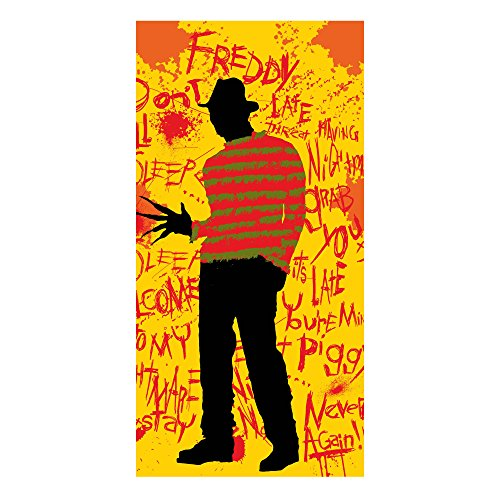 Factory Entertainment Nightmare On Elm Street Freddy Silhouette Beach Towel