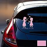 Autotattoo Heckscheibenaufkleber Fahrzeug Sticker Aufkleber Baby Schneekönigin Frozen Kinder M1872...