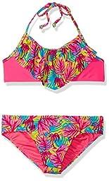 Roxy Baby Girls\' Paradise Beach Bandana Set, Knockout Pink, 18-24 Months