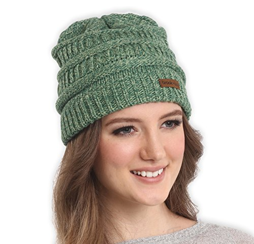 Cable Knit Multicolored Beanie by Brook + Bay - Stay Warm & Stylish this Winter - Thick, Soft & Chunky Beanie Hats for Women & Men - Serious Beanies for Serious Style