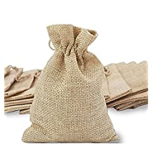 Burlaps Bags with Drawstring, Gift Bag Jute Hessian Packing Storage Linen Burlap Jewelry Pouches Sacks for Wedding Party Shower Birthday Christmas Jewelery DIY Craft, 5.0 x 4.0 Inch (30pcs)