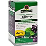 Natures Answer Bilberry Extract - Gluten Free - 90 Vegetarian Capsules