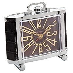 Richmond 4 1/2 High Nickel Plate Art Deco Alarm Clock