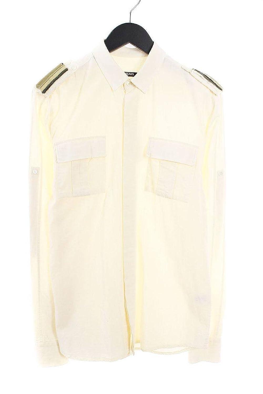 (バルマン) BALMAIN エポーレットデザイン長袖シャツ(39/オフホワイト) 中古 B07FV7J3VX  -