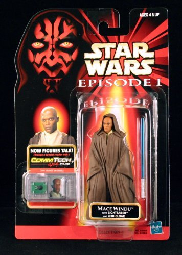 Star Wars Episode I: The Phantom Menace, Mace Windu (Jedi Cloak) Action Figure, 3.75 Inches