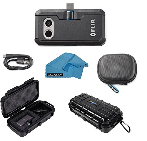 FLIR ONE Pro Thermal Imaging Camera Android USB-C ONLY Bundle With Rugged Waterproof Case and Cleaning Cloth (NOT FOR iPhone) ()