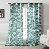 Cheap Duck River Textiles Caitlin Geometric Linen Look Grommet Top Window Curtain Drapes for Bedroom, Livingroom, Kids Room, Children, Nursery-Assorted Colors-Set of 2 Panels, 40 x 84 Inch, Pair, 2 Piece