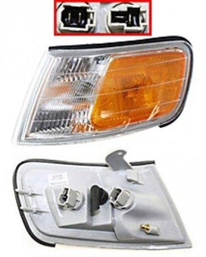 Side Marker Lamp Fits 94-97 Honda Accord Driver Front HO2550109 Corner Signal Light ()