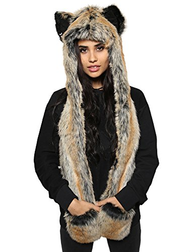 Red Wolf Full Hood By SpiritHoods Hood Liner Acrylic