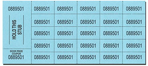 (Auction Tickets - 500 Sheets - BLUE)