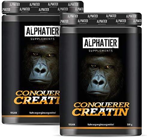 Creapure 1kg Creatin MONOHYDRAT - 1000g Kreatinpulver - Maximale Dosierung - Massephase - ALPHATIER Creatine Monohydrate Powder mesh 200 - Kreatin Made in Germany von Alzchem