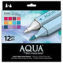 Aqua Markers by Spectrum Noir 12 Count Primary
