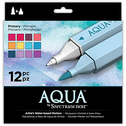 Aqua Markers by Spectrum Noir SPECN-AQ12-PRI Watercolor Marker Set