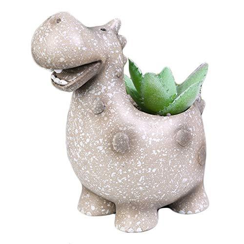 Youfui Cute Animal Succulent Planter Flower Pot Decor for Home Office Desk (Dinasaur 1)